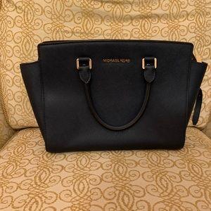 Navy Blue Michael Kors Selma Satchel Handbag